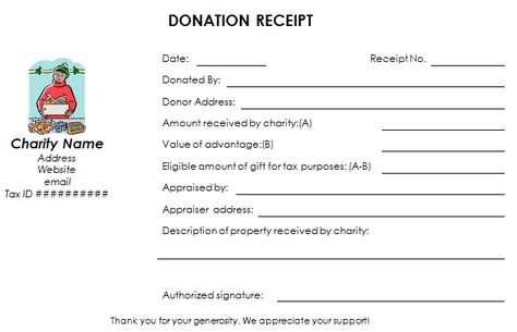 This Nonprofit Donation Receipt Template Helps You Create Donation Receipts For Your Organization Qui Donation Letter Receipt Template Donation Letter Template