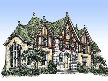 Plan 11603GC: Impressive English Tudor | Tudor house, Straw bales and House