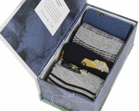 Mens Traveller Bamboo Sock Gift Box from Thought