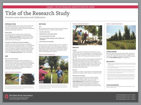Research Poster Templates  The Cfaes Brand  Design