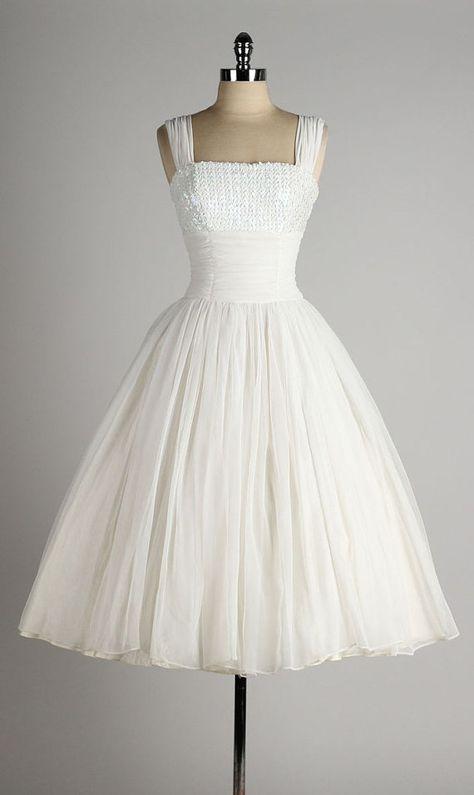1950's Chiffon Dress