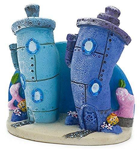 Penn Plax Spongebob Bikini Bottom Homes Aquarium Ornament - Medium