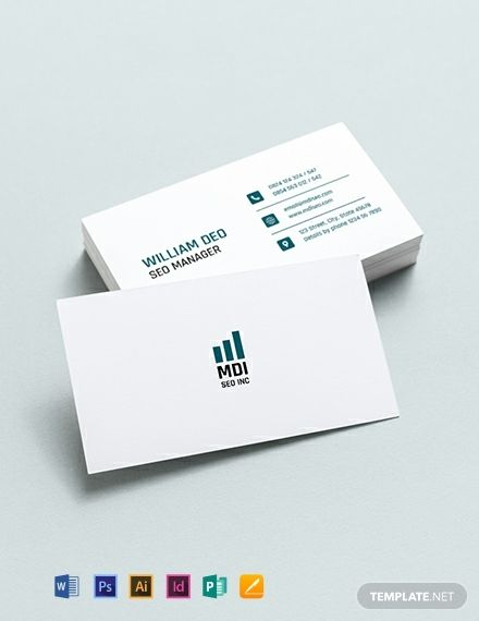 Instantly Download Seo Business Card Template Sample Example In Mi Business Card Template Word Business Card Templates Download Free Business Card Templates
