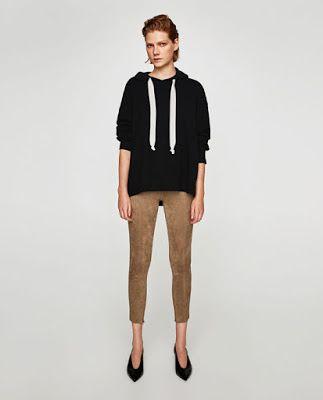 Bayan Suet Pantolon Kahverengi Modeli Taytlar Zara Pantolon