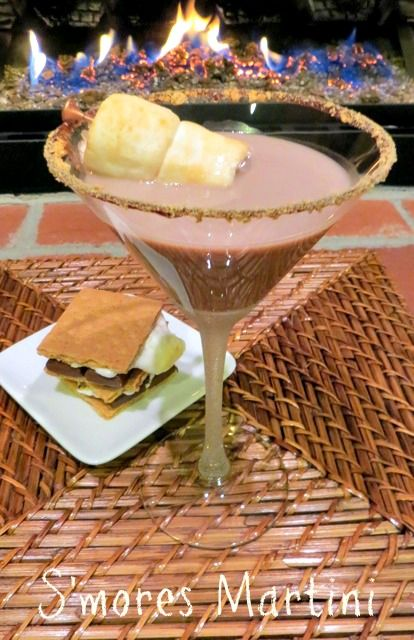 Try this S'mores Martini for Valentine's Day! It's like having booze for dessert!