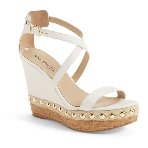 Via Spiga 'Moss' Studded Platform Wedge Sandal, 4 12