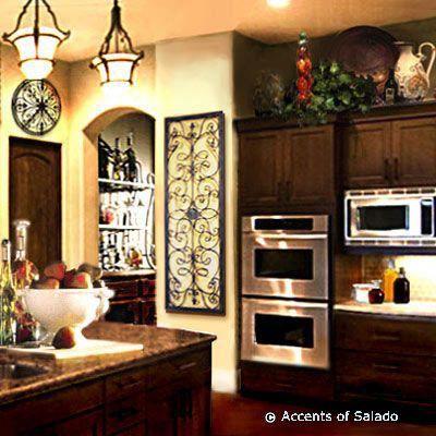 Wine Decorations For Kitchen Metal Urns Metal Canisters Metal Bowls Metal Planters Metal P Tuscan Decorating Kitchen Kitchen Decor Themes Wine Decor Kitchen