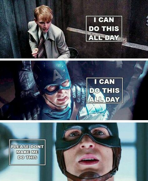 ''I can do this all day. [...] Please don't make me do that.'' / Steve Rogers vs. people, vs. villains and vs. Bucky Barnes.