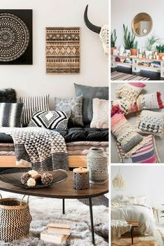 5 Easy Ideas to help you achieve the modern boho, or boho chic home decor look. #homedecor #homedecorideas #boho #bohostyle