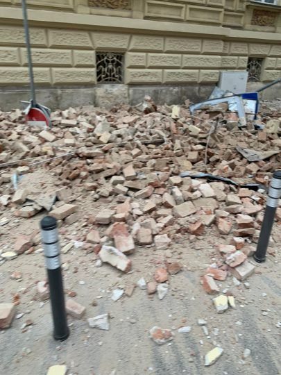 A 5 3 Magnitude Earthquake Destroys Homes Property In Croatia Photos Croatia Earthquake Photo