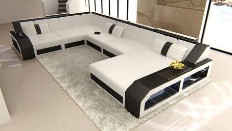 Wohnlandschaft Matera U Form Xxl Sofa Design Modernes