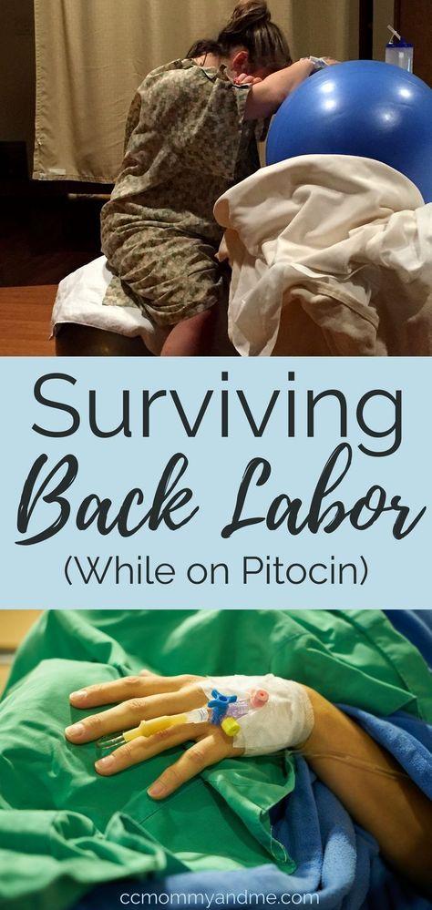 Surviving Back Labor (while on Pitocin   Back labor Back ...