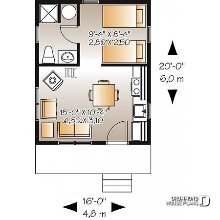 Discover The Plan 1901 Woodwinds Which Will Please You For Its 1 Bedrooms And For Its Cottage Chalet Cabin Styles House Plans Small Cabin Plans Tiny House Cabin