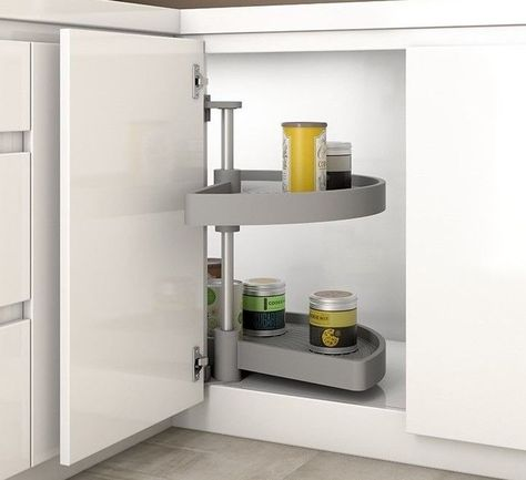 Best Kitchen 1 2 Circle Corner Unit Carousel In White Or Grey 400 x 300