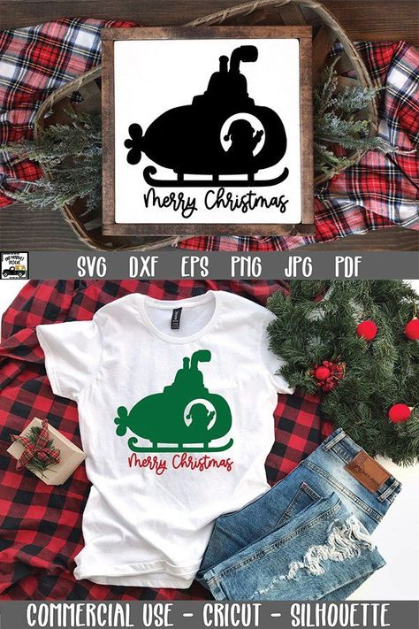 Santa Submarine SVG File - Merry Christmas SVG File (1470615)   Cut Files   Design Bundles