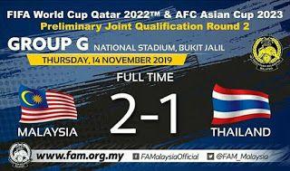 Malaysia Vs Thailand Kelayakan Piala Dunia 2022 Piala Asia 2023 World Cup Malaysia Thailand