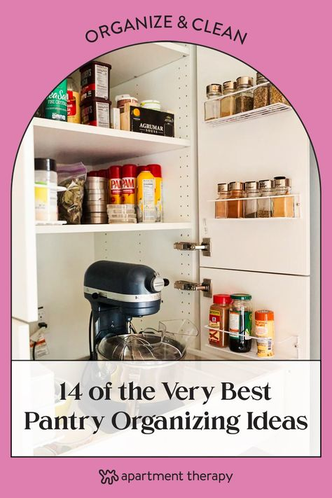 With that in mind, here is a big list of pantry organizing solutions to help you achieve not the perfectly styled pantry of your Instagram feed, but a realistic one that serves you well, no matter its size, shape, or the kinds of containers you use.