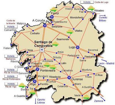 A Coruña Mapa Turistico.Mapa Turistico Galicia My Blog En 2019 Mapa Turistico