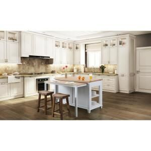 Design Element Medley White Kitchen Island With Slide Out Table Kd 01 W The Home Depot White Kitchen Island Grey Kitchen Island Kitchen Island With Granite Top