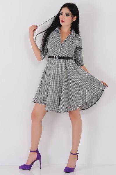 Elbise Piti Kareli Siyah Beyaz Gomlek Elbise Rahat Tesettur Bayangiyim Indirim Tasarim Spor Cool Firsat Aksesu Elbise Modelleri Gomlek Elbise Elbise