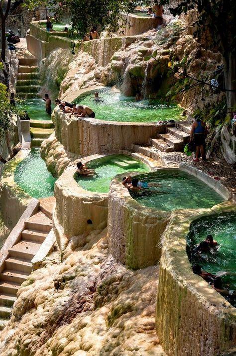 Grutas de Tolantongo natural hot springs in Hidalgo, Mexico.