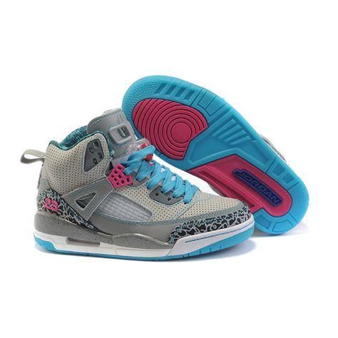 half off 1994a 2603d Jordan Spizike Woman Basketball Shoes white grey moon A24044