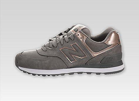 e49cf41be4 Damen New Balance 574 (Edelmetalle) CH- 2477 Silber/Bronze Schuhe