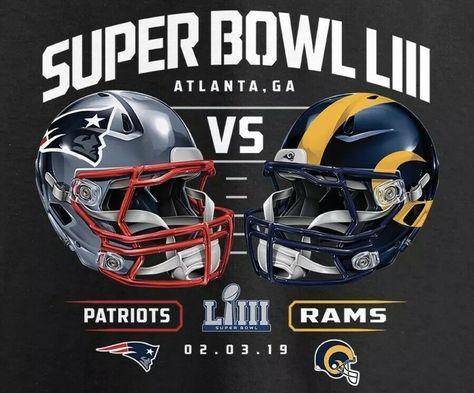 Superbowl 53 Atlanta Sport American Football New England Patriots LA Rams Shirt