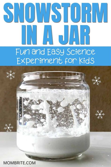 If you are looking for an indoor activity in the cold winter time, the snowstorm in a jar science experiment is the perfect boredom buster for your little ones. Your kids will love this fun STEM… At Home Science Experiments, Science Activities For Kids, Home Activities, Preschool Science, Science Education, Science Fun, Physical Science, Earth Science, Chemistry Experiments For Kids