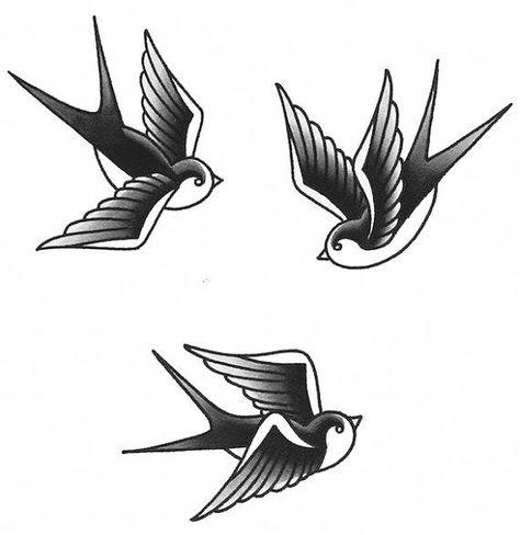 Swallow Temporary Tattoos - Bird Tattoo - Temporary Tattoos - Fake Tattoo - Swallow Tattoos - Tradit #UltraCoolTattoos