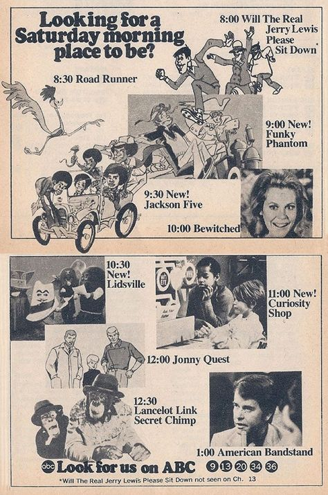 ABC Saturday Mornings and early afternoon 1971!