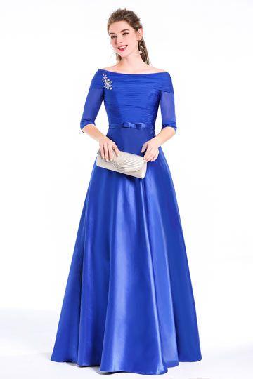robes longue bleu ceremonie mariage