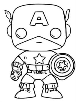 Nice Coloring Page Funko Pop Captain America On Kids N Fun Captain America Coloring Pages Avengers Coloring Pages Superhero Coloring Pages