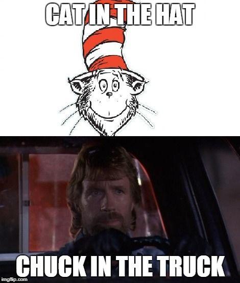 Chuck Norris Cat In The Hat Chuck Norris Chuck Norris Facts Chuck Norris Jokes