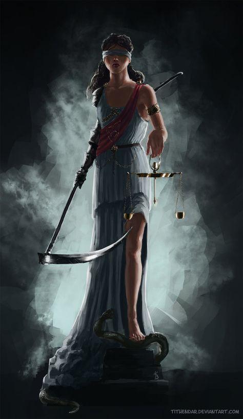 Justitia, diosa de la justicia y la sabiduría Justitia by tithendar