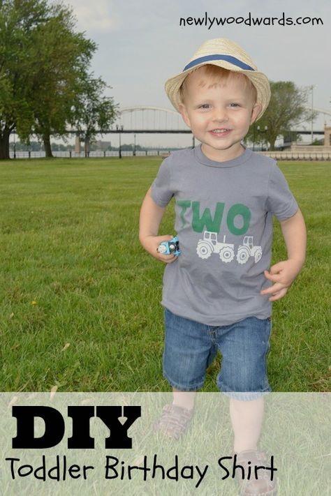 Make a custom birthday T-shirt to coordinate with a party theme.
