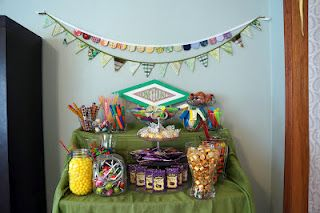 honeyduke's candy shop set-up at our party.