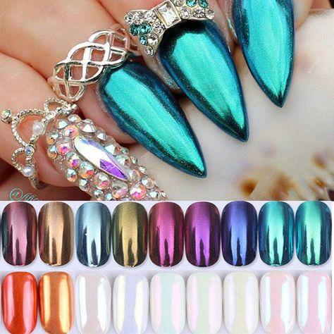 Nail Glitter Powder Dust Mirror Chrome Pigment Nail Art Manicure Born Pretty #easynailart