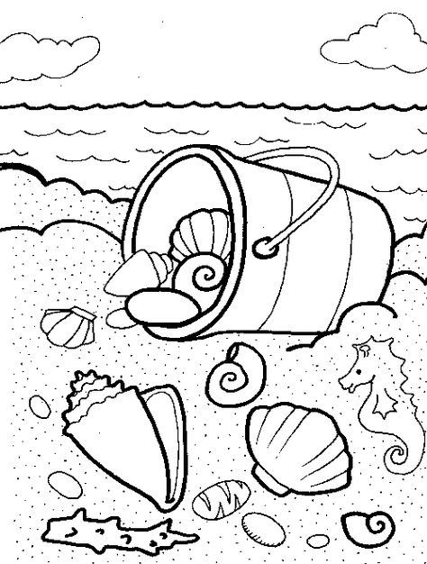 Beach And Sea Shell Coloring Pages Any Ofthese Pages To Your Harddrive By Following These Instr Summer Coloring Pages Coloring Books Beach Coloring Pages