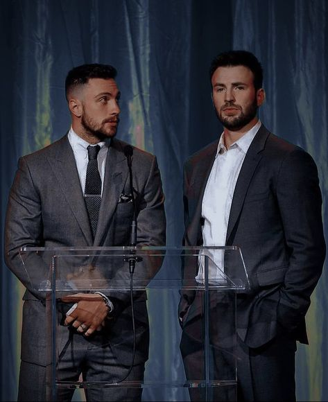 AARON TAYLOR JOHNSON AND CHRIS EVANS