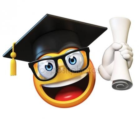 Absolvent Emoticon Emoji Emoji Pictures