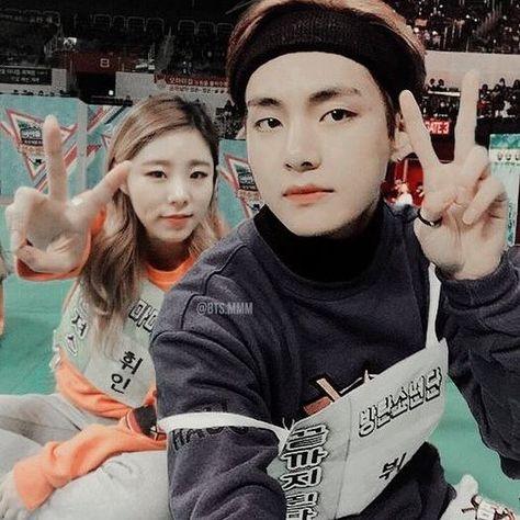 bts taehyung & mamamoo wheein loving this amazing #friendship #goals #kpopfriendship #edit