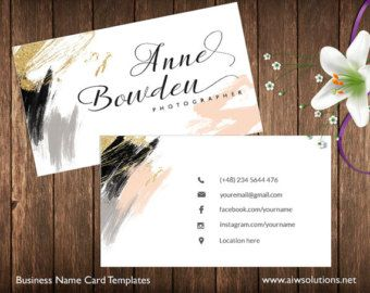 Business Cards Printable Name Card Template Photography Name Etsy Printable Business Cards Name Cards Name Card Design