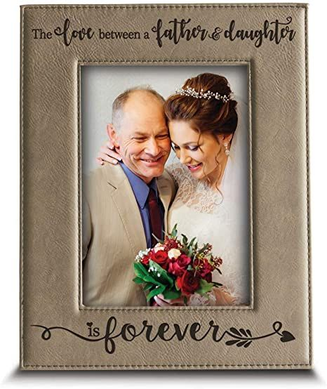 Father/'s Day Picture Frame The Love Between A Father And A Daughter Lasts Forever Personalized Dad Frame