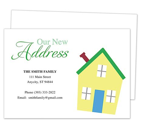 Moving announcements new address postcard templates on for Moving home cards template