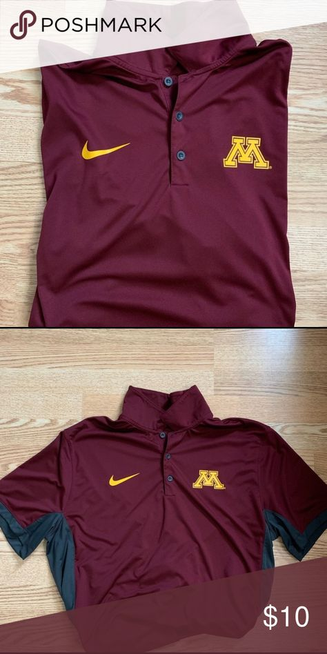 81cf2c02 nike dri fit minnesota golden gophers polo size xl. great condition Nike  Shirts Polos