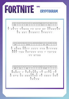 Fortnite Fun Puzzles Word Searches Cryptograms Maze Fun