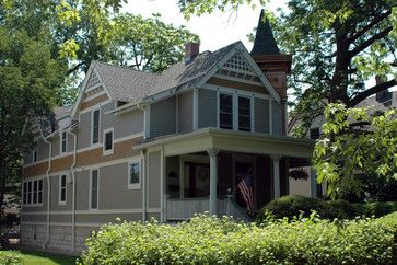 Chicago Il Victorian Style Home In James Hardie Lap Siding Traditional Exterior Ch Traditional Exterior Victorian Style Homes Traditional Home Exteriors