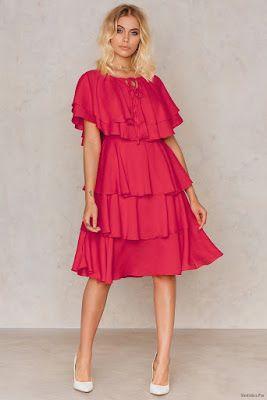 Vestidos Con Olanes Vestido Con Olanes Vestidos Rojos Y
