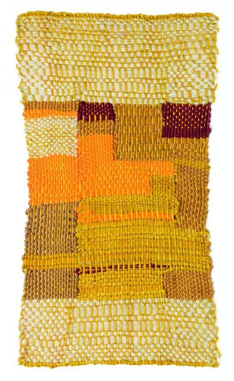 Sheila Hicks (1934-) Struggle to Surface 2015. Linen wool and cotton. #fiberart ...,  #Cotton...